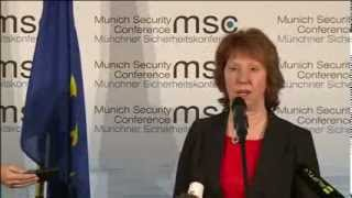 Press point by Catherine Ashton on Middle East, at the Munich Security Conference