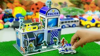 Make a Police Station with Paperboard~DIY Cardboard Crafts~Miniature Dollhouse with Paperboard Easy!