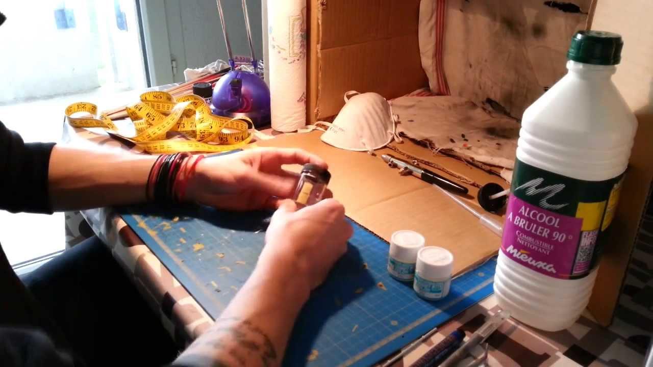 la mise en peinture à l'aérographe : partie 3, la dilution. [tuto ... - Diluer Peinture Acrylique Avec De L Eau