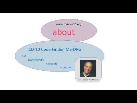 About codeicd10.org online code finder, MS-DRG grouper