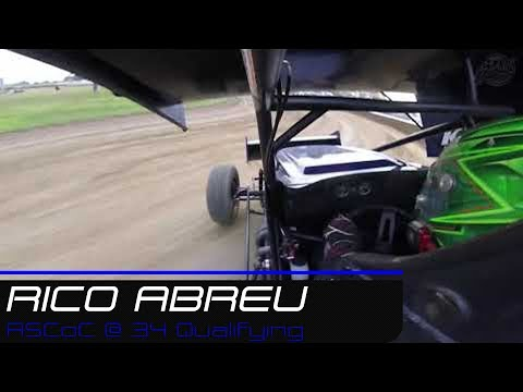 Rico Abreu |  | All Star Circuit of Champions @ 34 Raceway Qualifying | 7.28.19