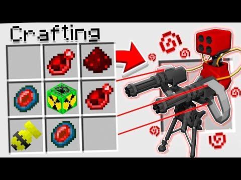 How To CRAFT A SUPER SENTRY GUN In Minecraft!