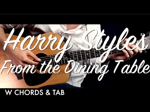 Harry Styles - From the Dining Table Guitar Tutorial Lesson w Chords & TAB  / Guitar Cover