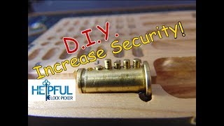 [119] DIY How To Increase Your Lock's Security By Optimizing Security Pins