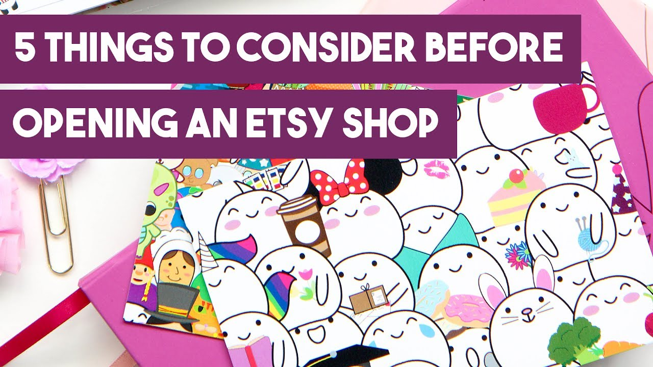 5 Things to Consider Before Opening an Etsy Shop