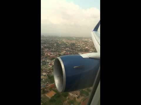 Delta Airline Landing In  Accra Ghana West Africa