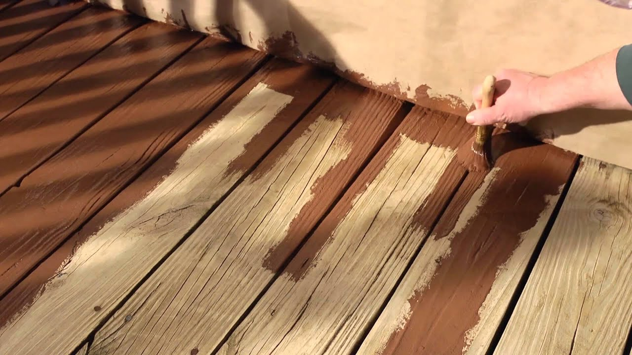How to resurface a wood deck with olympic rescue it youtube baanklon Choice Image