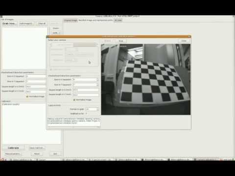 Camera calibration with a checker-board and MRPT