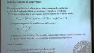 F  Aryasetiwan - First principles method for calculating the Hubbard U I