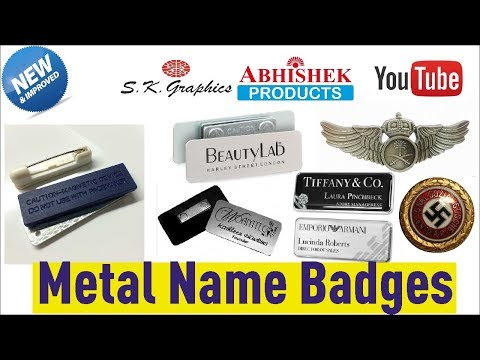 Metal Name Badges With Magnet and Pins