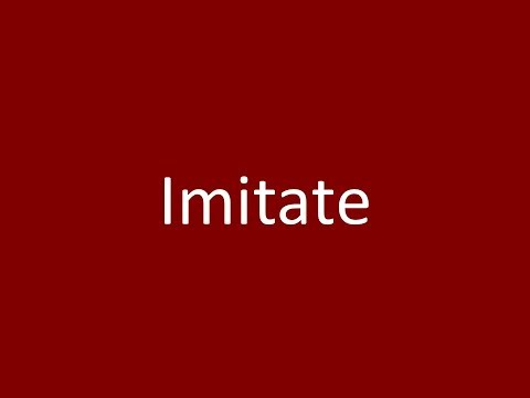 Imitate Meaning Definition Pronunciation Example Synonym Antonyms