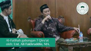 al fatihah tujuh qiroat oleh ust ali fakhruddin ma