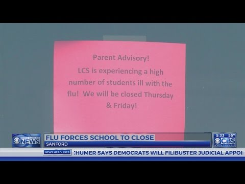Sanford school cancels classes over flu concerns