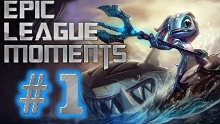Epic League Moments #1 - Zed Outplay, Nunu Snowballin