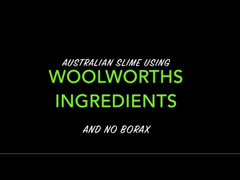 Australian Slime Recipe (NO BORAX) - with Woolworths Ingredients