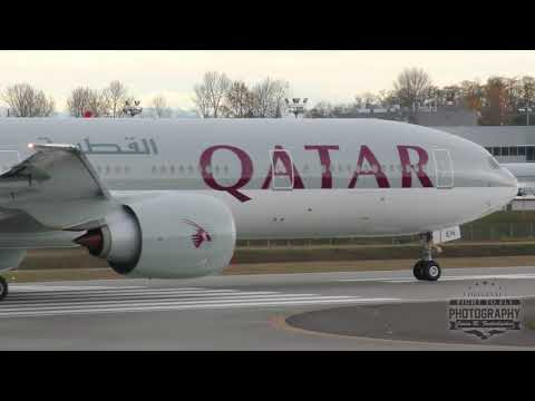 Qatar Boeing 777 Delivery Takeoff - Paine Field