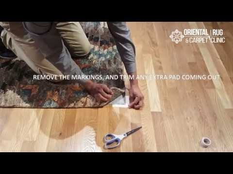 How to Install an Area Rug Pad - YouTube