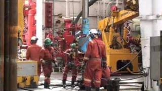 Riser drilling of Nankai Trough earthquake zone