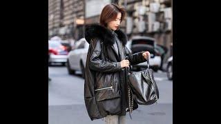 Натуральная кожаная куртка женская 2021 модные натуральным лисьим мехом дубленка мотоциклетные