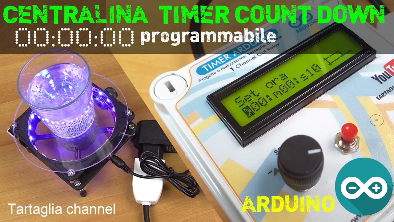 Schema Elettrico Per Temporizzatore : Centralina timer count down programmabile con arduino nano youtube