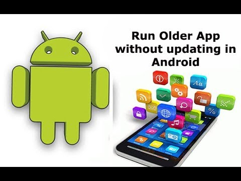 How to run old version of App without updating in Android