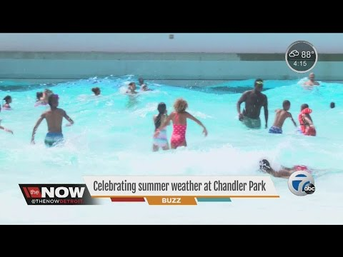 People celebrate summer weather at Chandler Park