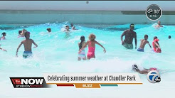 People celebrate summer weather at Chandler Park