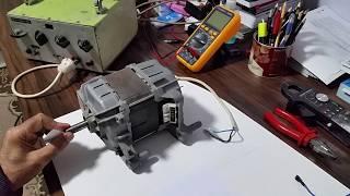 çamaşır makina motorunun 220v dışarda çalıştırılması, triyakla devir kontrolu