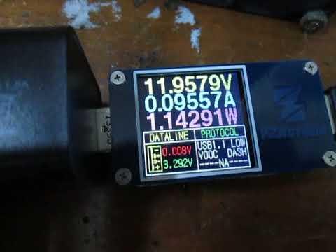 Nidec TA300DC DC12v fan current measurement using ZY1276 meter