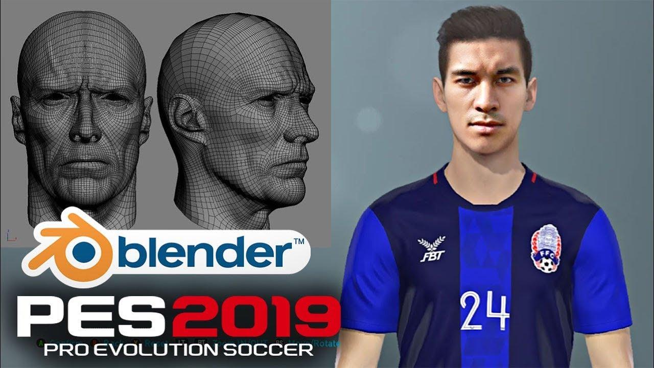 How to make face for PES 2019 face Blender MGSV script FMDL