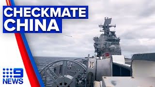 Warships sail in a show of strength against China   9 News Australia