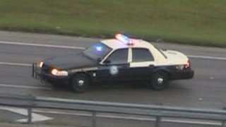 Florida Highway Patrol responding for traffic stop on freeway