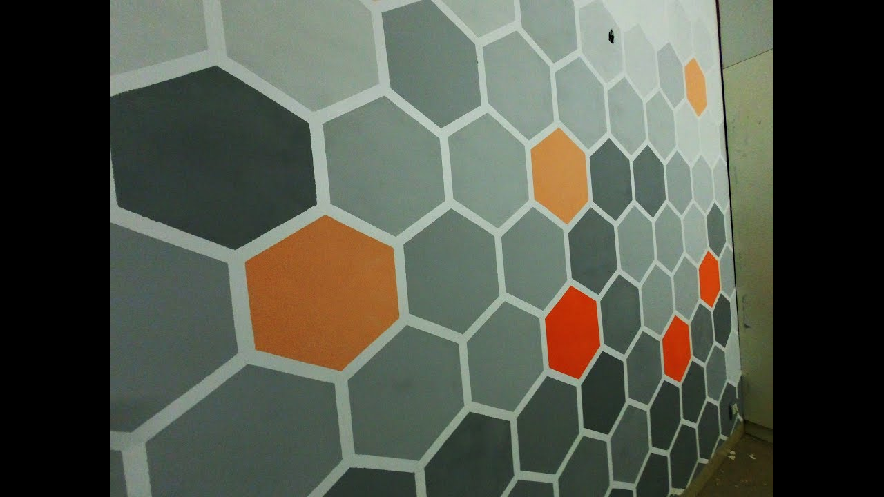 Diy Hexagon Honey Comb Wall Art Design Youtube