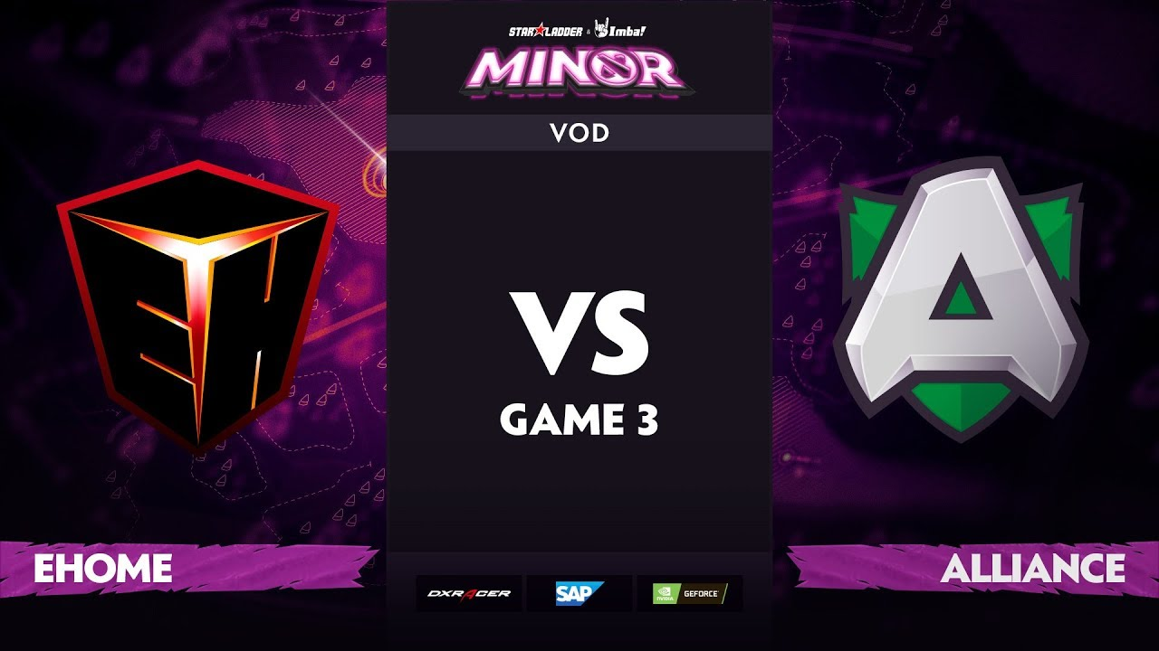 [EN] EHOME vs Alliance, Game 3, StarLadder ImbaTV Dota 2 Minor S2 Group Stage