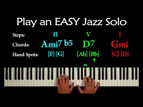 EASY JAZZ PIANO IMPROVISATION (2-5-1 in minor)