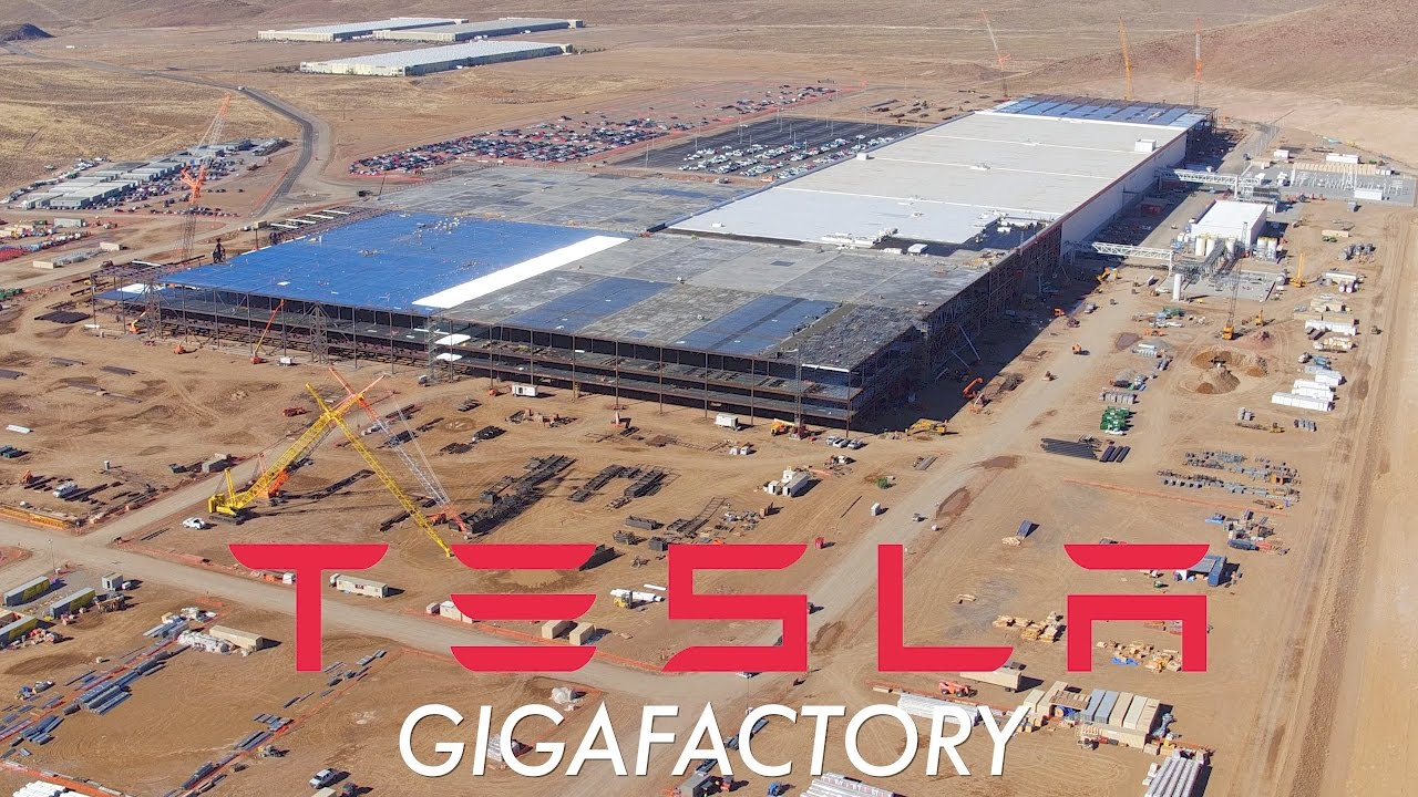 tesla gigafactory november 2016 construction update youtube