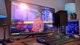 The asus pg43uq is rog's biggest gaming monitor to date, with 43 inches of 4k 144hz goodness! throw in hdr 1000, gsync/freesync, dsc and elmb, you have q...