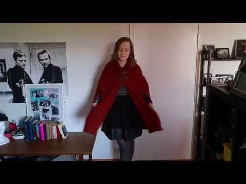 Sewing a cape with arm slits and pockets! (pattern included)
