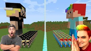 EXÉRCITO DO LUCCAS NETO VS EXÉRCITO DO FELIPE NETO NO MINECRAFT !! (IRMÃOS NETO)