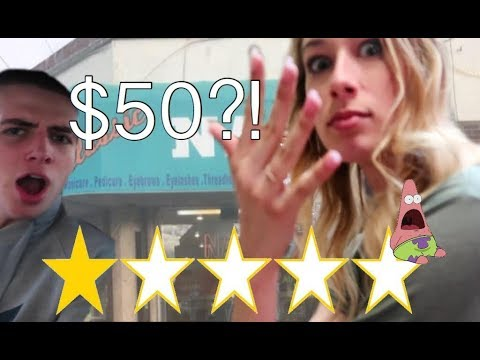 Going To The WORST REVIEWED NAIL SALON *WOW*   Maddie Welborn