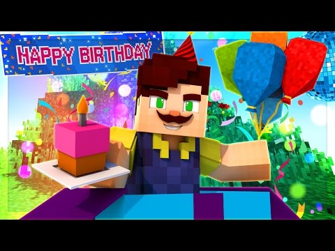 HELLO NEIGHBOR - SECRET SURPRISE BIRTHDAY PARTY! (Minecraft Roleplay)