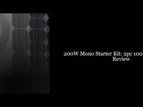 200w-mono-starter-kit:-2pc-100w-solar-panels+20'-adapter-kit+pwm-30a-charge-controller+2
