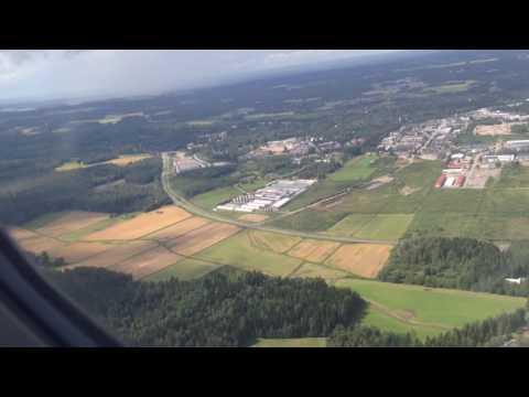 Landing Finnair In Helsinki, Zürich (SUI) - Helsinki (Fin), 02.08.2016