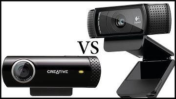 Logitech C920 vs Creative Live! Cam Chat HD - Also Low light test