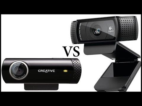 Logitech C920 Vs Creative Live! Cam Chat HD Unboxing & Review - Also Low Light Test