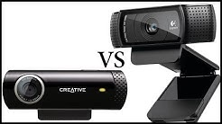 Logitech C920 vs Creative Live! Cam Chat HD Unboxing & Review - Also Low light test