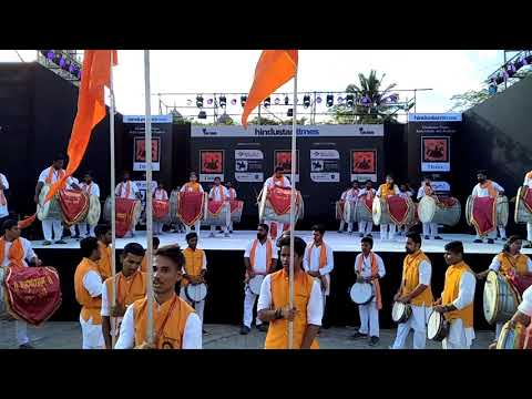 Kaleshwarnath dhol pathak mulund mumbai at kala ghoda art festival