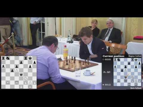 Gelfand vs Carlsen - 2014 Zurich Rapid Round 1