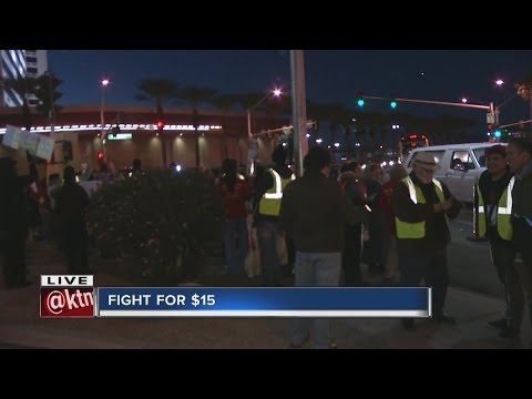 Dozens gather for local Fight for $15