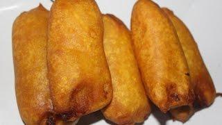 Pazhampori / Pazha Appam / Banana fry / Banana Fritters - South Indian Sweet Snack
